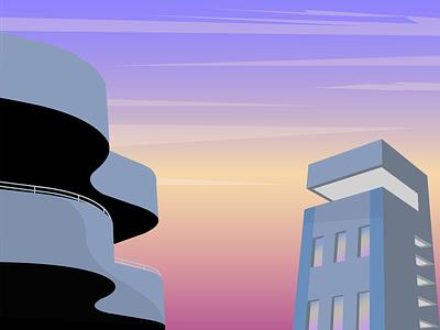 Urban Life adobe illustrator illustrator illustration flat vector minimal design
