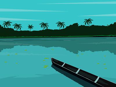 Peace Life adobe illustrator scenery illustrator illustration flat vector minimal