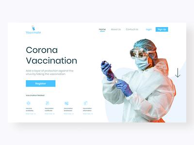 Vaccinate medical web figma website ux ui illustrator illustration minimal design