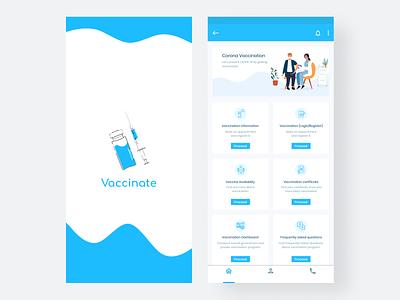 Vaccinate app figma ux ui illustration flat vector minimal design