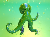 Sea Pollution - Octopus
