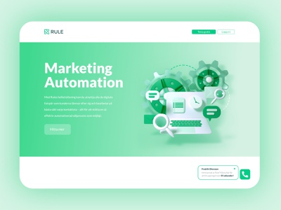 Marketing Automation - Rule rendering render glass website 3d website ui design landing page settings automation format marketing c4d 3d illustration