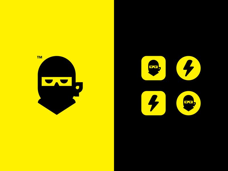 NINJA // APP LOGO DESIGN // SECRET /////// minimal icon secret logo ninja app