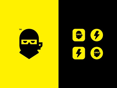NINJA // APP LOGO DESIGN // SECRET /////// minimal icon secret logo ninja app