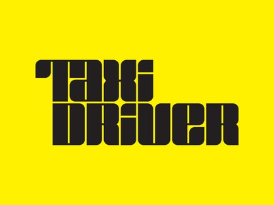 TAXI DRIVER LETTERING