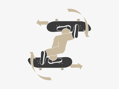 SK8 AROUND // vector skateboarding skateboard skate sk8 illustration graphic design bltr beltramo