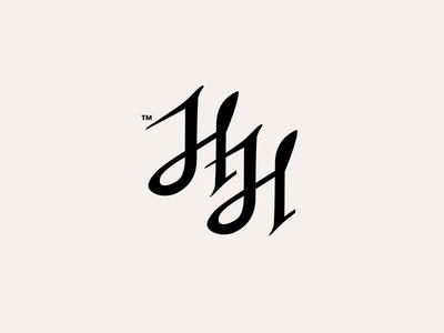 HH MONOGRAM // typography monogram logo lettering identity hh carpenter calligraphy branding bltr beltramo