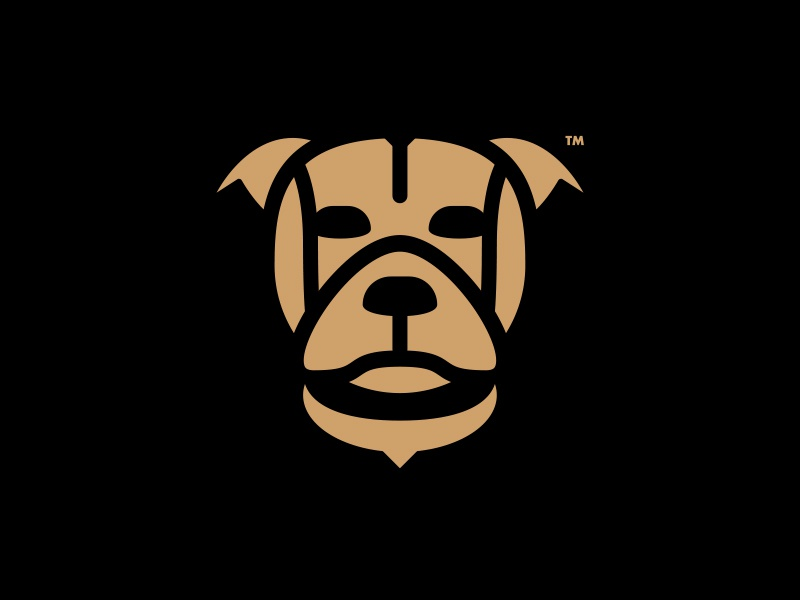 BULLDOG LOGO DESIGN // beltramo bltr bulldog dog icon illustration logo symbol