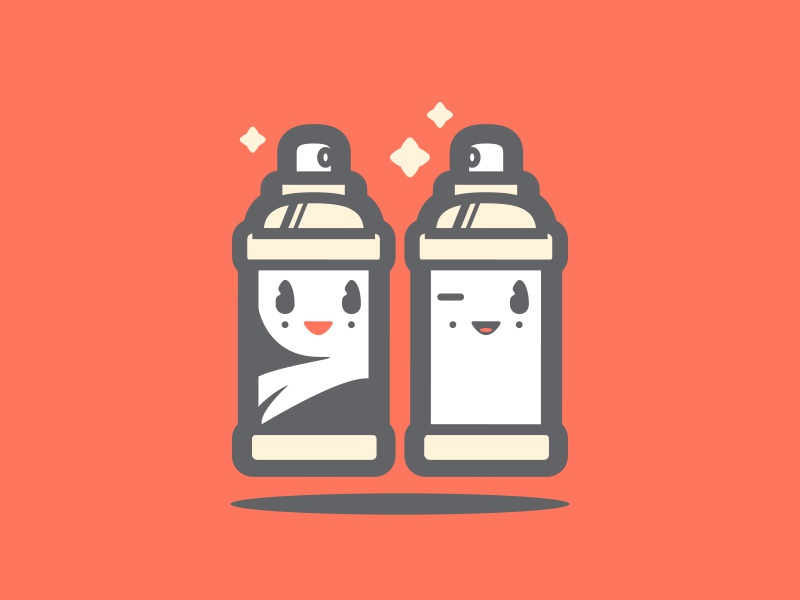 SPRAY CANS // spray cans illustration icon character bltr beltramo