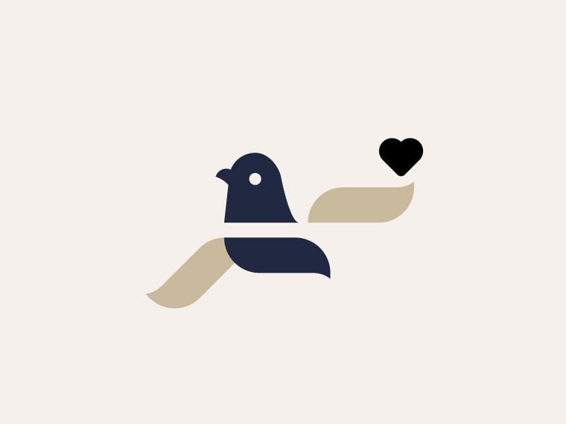 DROP LOVE NOT BOMBS // beltramo bird bltr icon illustration logo pigeon symbol