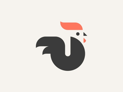ROOSTER // animal beltramo bltr icon illustration logo rooster