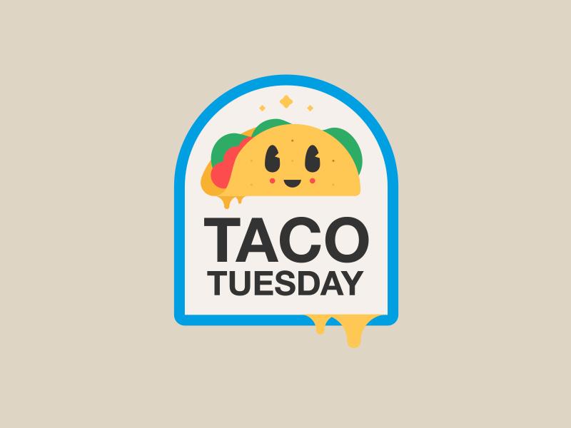 TACO TUESDAY // taco tuesday taco character bltr beltramo badge
