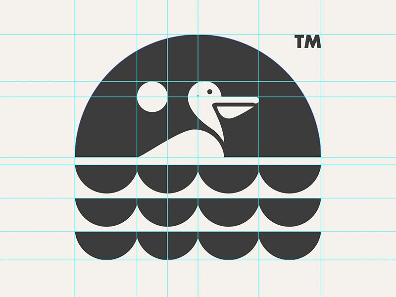 PELICAN // GRID SYSTEM // animal beltramo bltr grid system icon illustration logo pelican