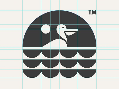 PELICAN // GRID SYSTEM // animal beltramo bltr grid system icon illustration logo pelican