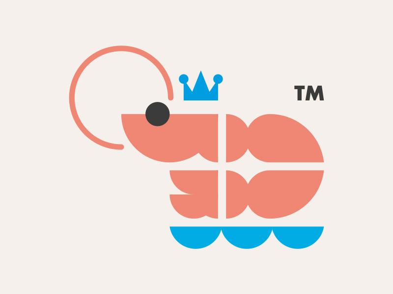 KING PRAWNS // LOGO DESIGN // logo king prawns illustration icon bltr beltramo animal