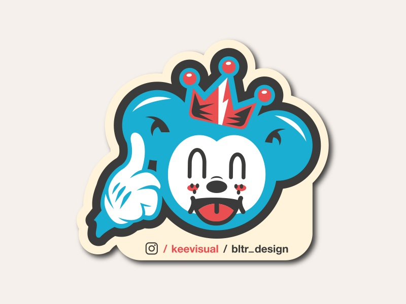 NEW CHARACTER // MORE COMING SOON // beltramo bltr character keevisual mouse sticker