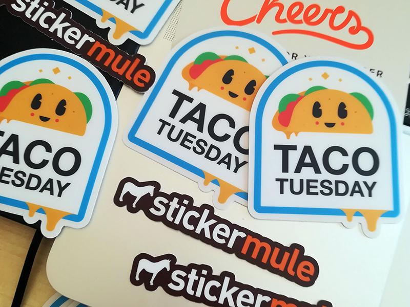TACO TUESDAY // badge beltramo bltr character sticker mule sticker taco taco tuesday