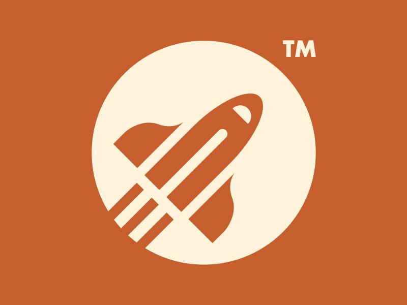 ROCKET — PENCIL // LOGO DESIGN // beltramo bltr logo pencil rocket space