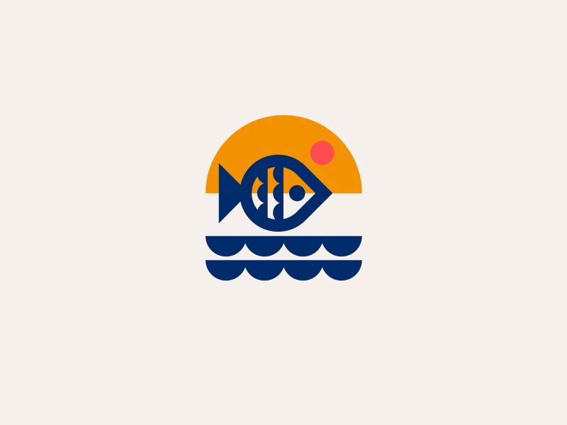 FRESH FISH // ocean logo fish bltr beltramo