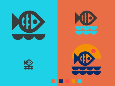 FISH LOGO EXPLORATION // water ocean logo fish bltr beltramo