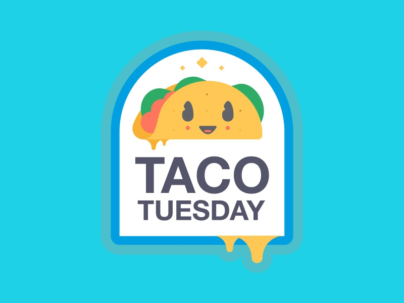 TT STICKERS // ROUND TWO // taco tuesday taco sticker character bltr beltramo badge