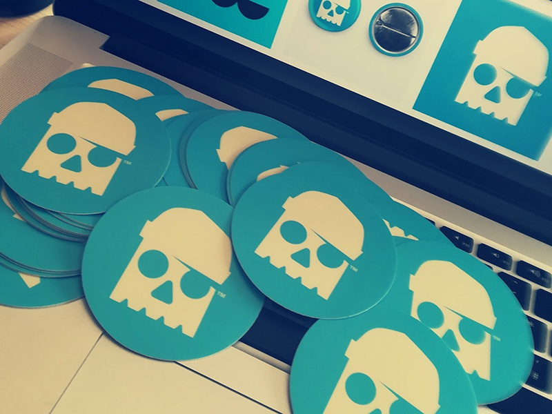 NEW SKULL STICKERS // avatar beltramo bltr logo skull sticker