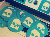 NEW SKULL STICKERS //