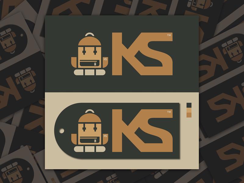 KNAPSACK CHARACTER ICON LOGO // logo knapsack icon character bltr beltramo backpack
