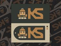 KNAPSACK CHARACTER ICON LOGO //
