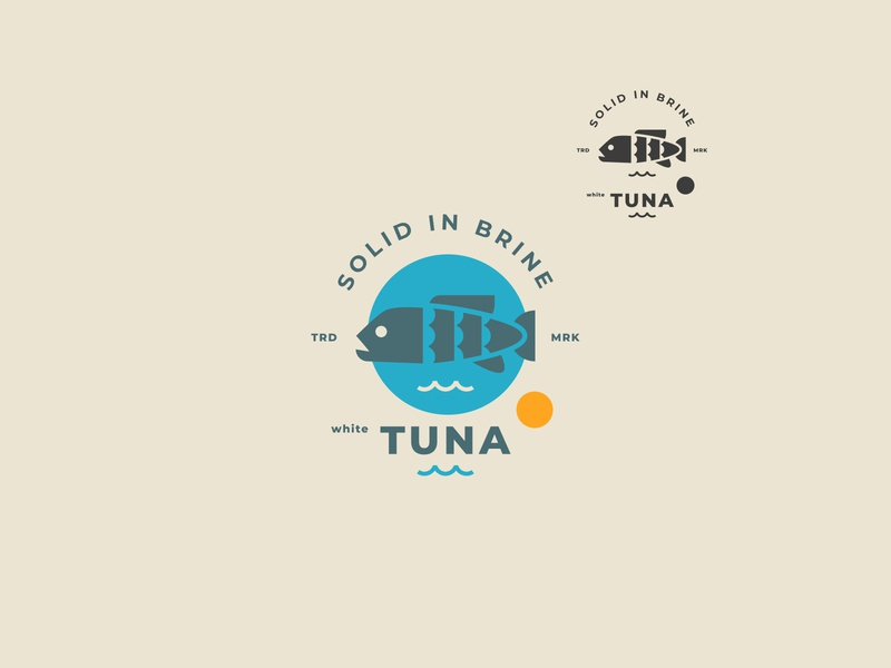 TUNA // vector tuna symbol seafood packaging logo illustration icon fish bltr beltramo