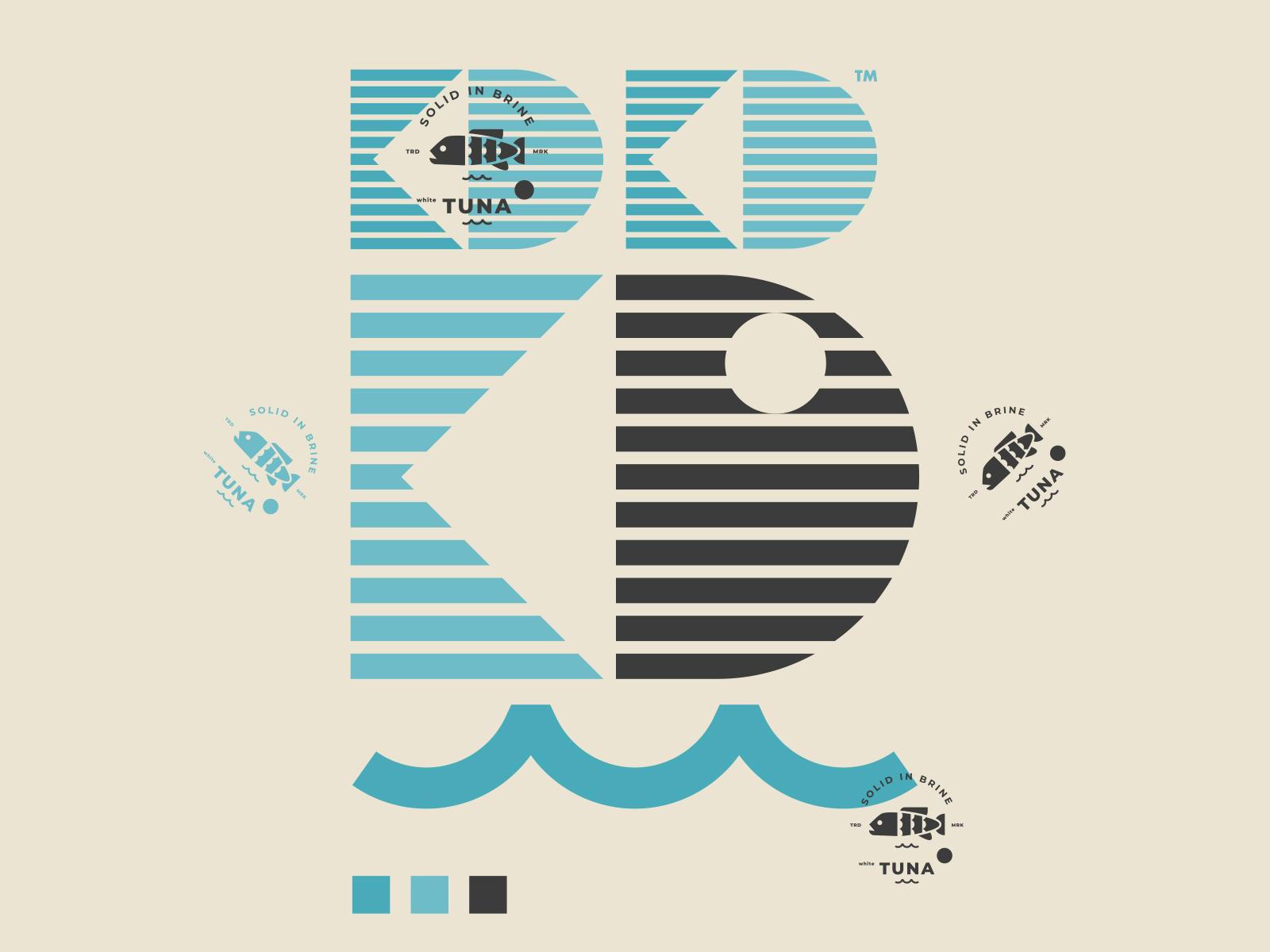 KD TUNA // WIP LOGO // GRAPHIC EXPLORATION // vector tuna symbol seafood packaging logo illustration icon fish bltr beltramo