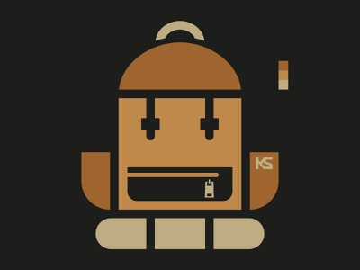 KNAPSACK // logo knapsack icon character bltr beltramo backpack