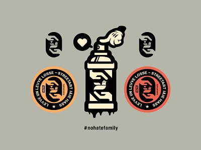 #nohatefamily nohatefamily logo illustration icon peace love dove bltr beltramo