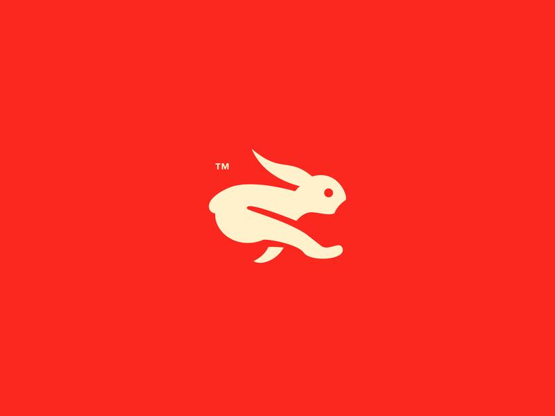ON THE RUN // branding animal beltramo bltr character symbol illustration logo rabbit