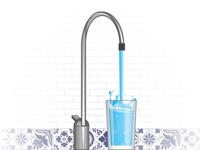 Filtered water faucet water filter kitchen sink faucet water