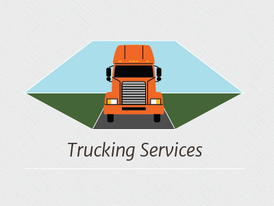 Trucking Services logistics truck flat design