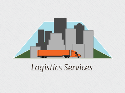 Logistic Services trucking logistics flat design