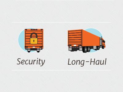 Trucking Services icons flat design logistics truck