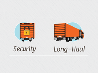 Trucking Services icons
