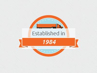 Trucking Service badge trucking flat design badge