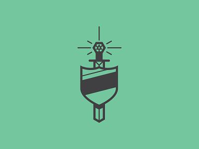Aye illustrator icon badge minimal vector illustration flat design