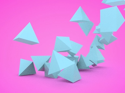 Pyramids jazzybam cinema 4d c4d test experiment dynamics colour