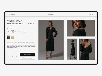 Namelazz redesign - fashion online shop. namelazz shop online redesign website design e-commerce fashion ux concept web ui minimal design