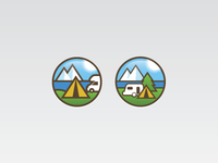 Camping icon in progress