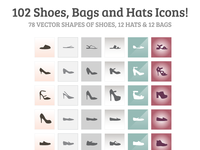 102 Free Shoes Hats Bags Icons