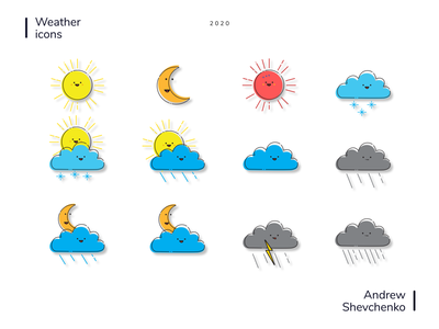 Weather icons design app icon weather