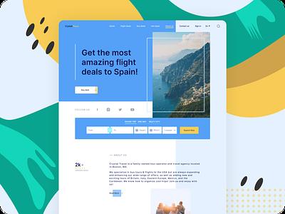 Travel agency travel concept webdesign