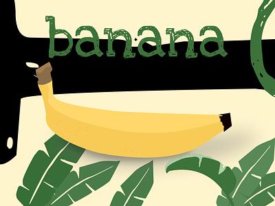 banana illustraion fruit banana