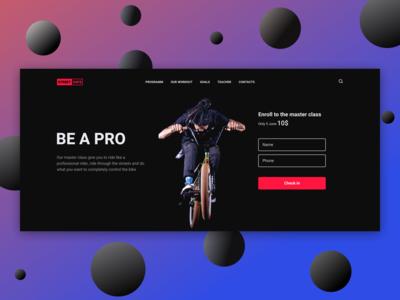 BMX master class landing page concept