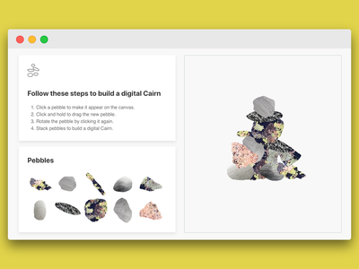 New UI for Digital Cairn design web illustration cairn user experience user interface